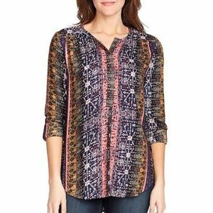 Nine west jeans boho lucy coffee top sz S